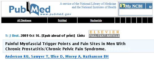 Painful Myofascial Trigger Points and Pain Sites in Men With Chronic Prostatitis/Chronic Pelvic Pain Syndrome -article